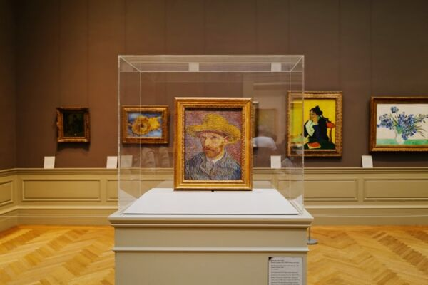 Picture of a Van Gogh painting on display