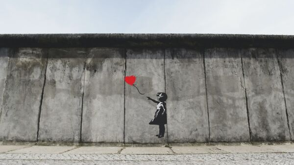 Picture of the a Banksy mural