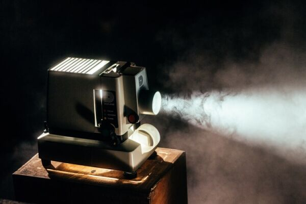 Picture of old fashioned film projector