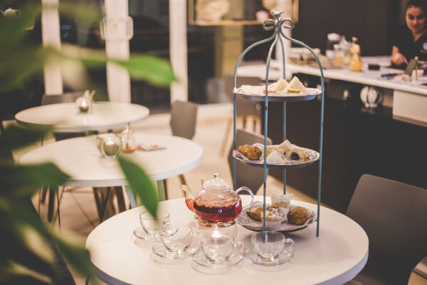 A picture of a table set for high tea